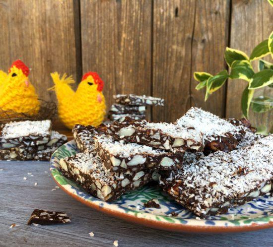 Lastra di Cioccolato, Macadamia e Mandorle
