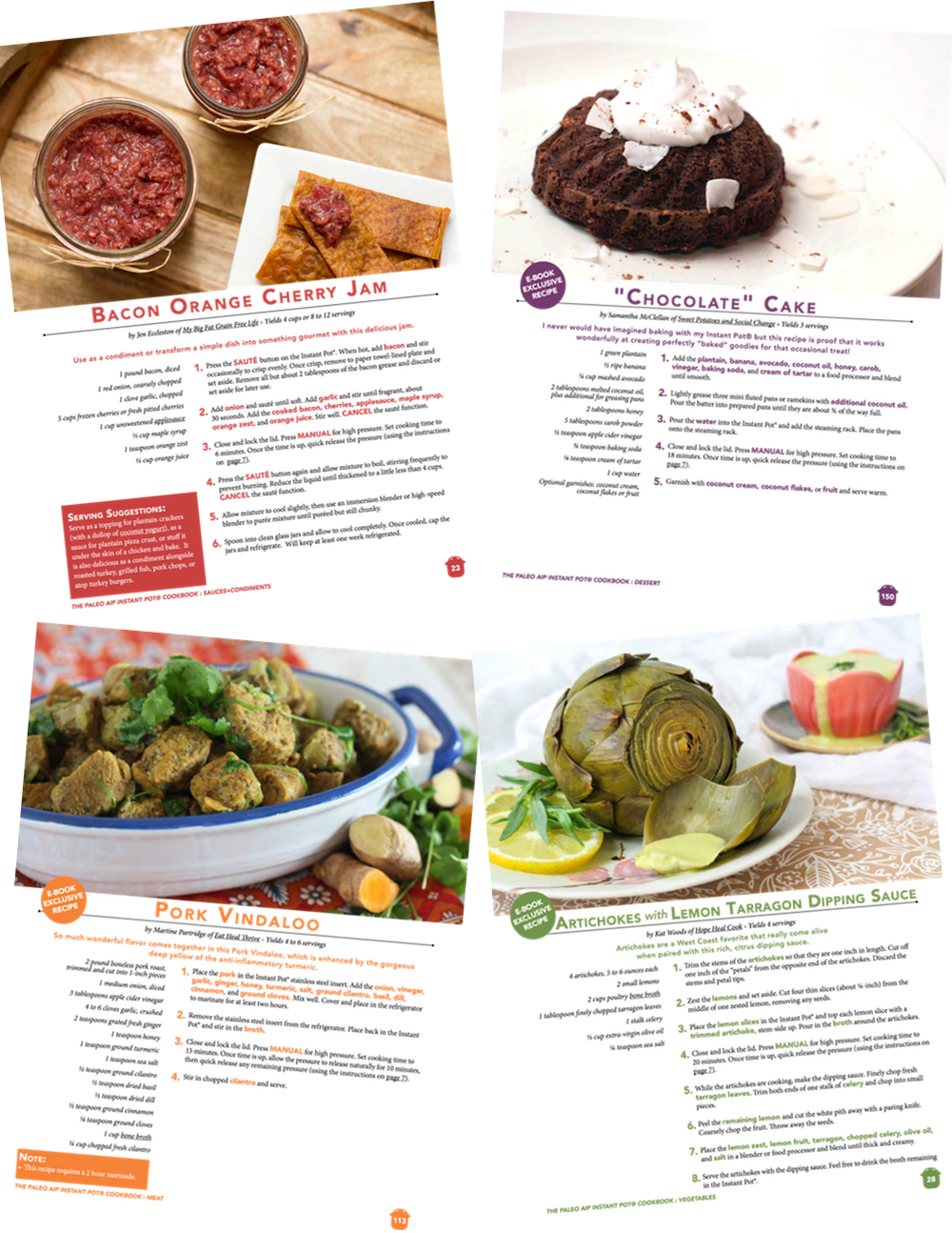 Paleo AIP Instant Pot Cookbook -Recipe Pages