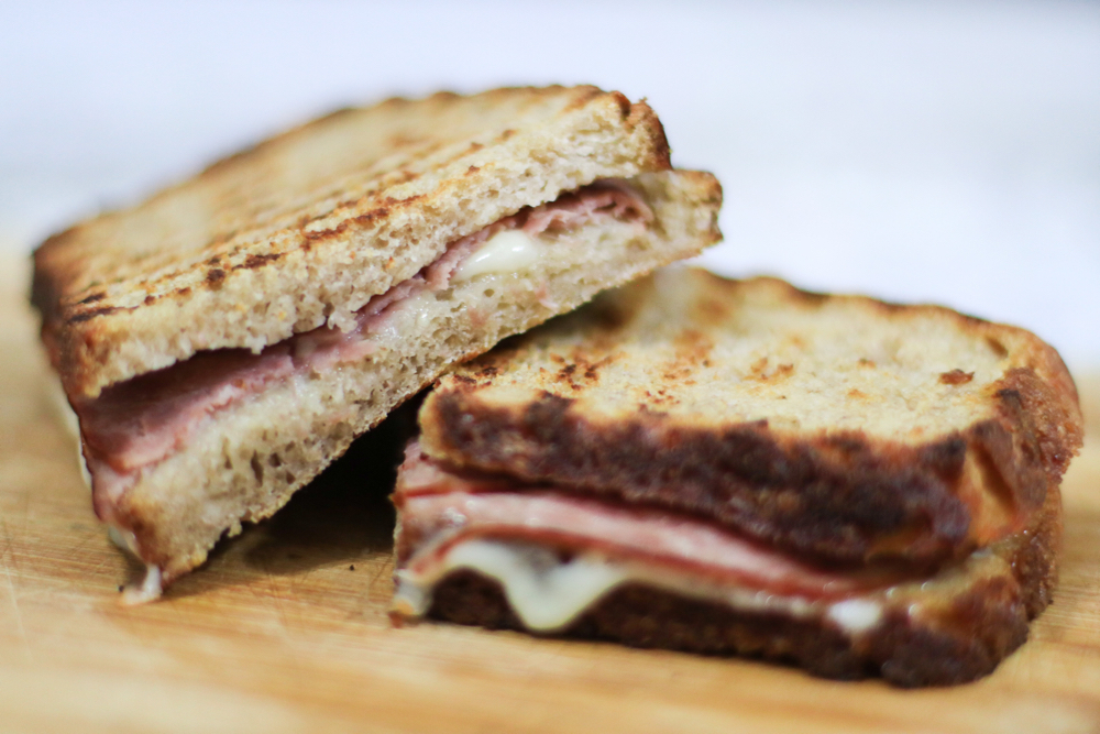 Toasted sandwich, simple carbohydrate.