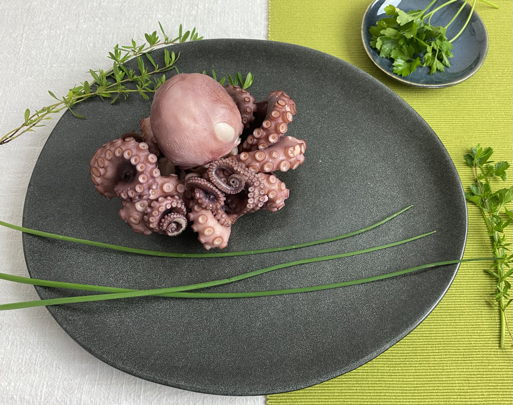 Octopus, cooked.