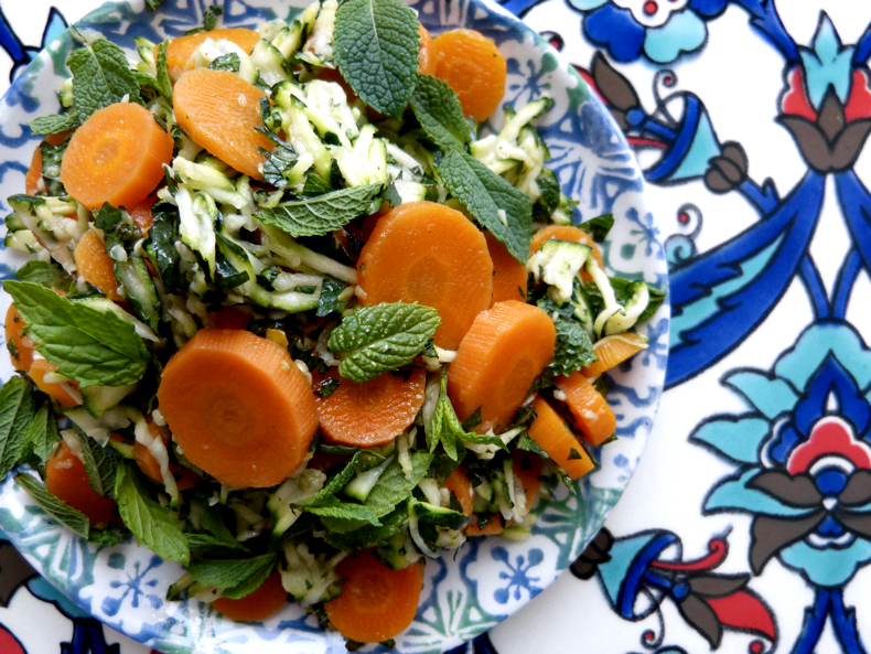 Zucchini, Carrot and Mint Fresh Summer Salad
