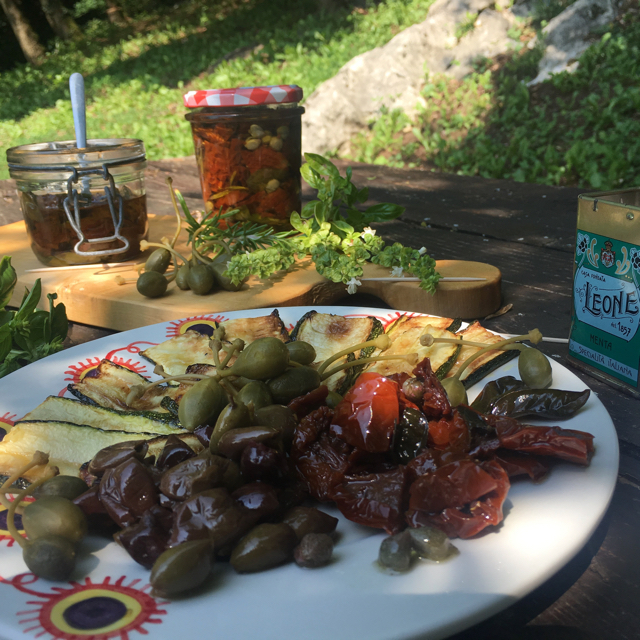 Antipasto platter with Sundried Tomatoes