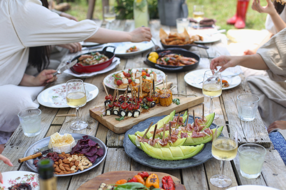 People eating Paleo Diet food.